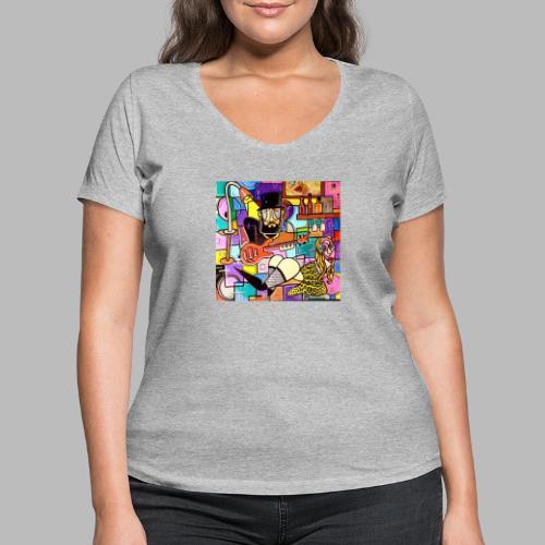 Vunky Vresh Vantastic - Vrouwen bio T-shirt met V-hals van Stanley & Stella