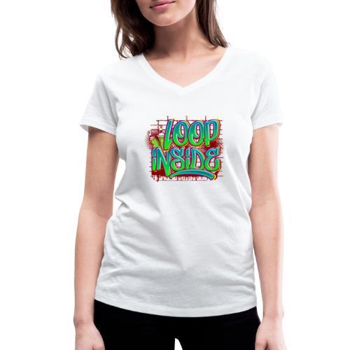 Loop inside 🤪 - Frauen Bio-T-Shirt mit V-Ausschnitt von Stanley & Stella