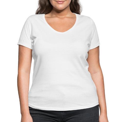 hvid trans - Økologisk Stanley & Stella T-shirt med V-udskæring til damer
