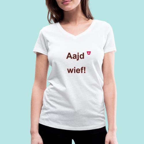 Aajd wief def b verti - Vrouwen bio T-shirt met V-hals van Stanley & Stella