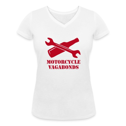 Motorcycle Vagabonds V1 - Women's Organic V-Neck T-Shirt by Stanley & Stella