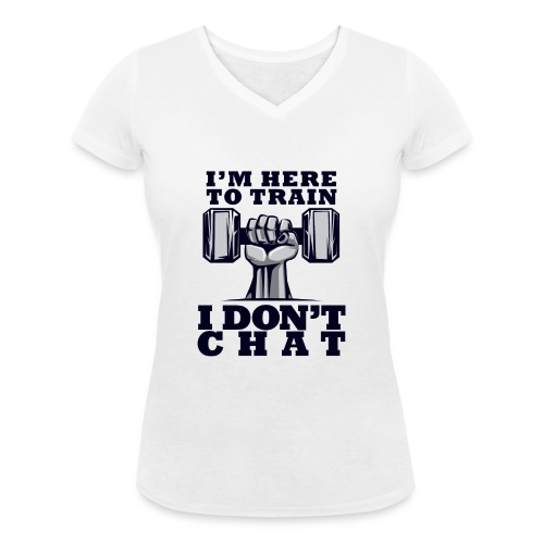 Train Chat - Stanley & Stellan naisten v-aukkoinen luomu-T-paita
