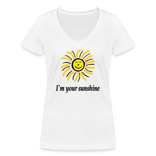 2i m youre sunshine Gelb Top - Frauen Bio-T-Shirt mit V-Ausschnitt von Stanley & Stella