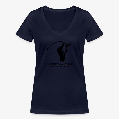 Horse Majeure Logo / Musta - Stanley & Stellan naisten v-aukkoinen luomu-T-paita