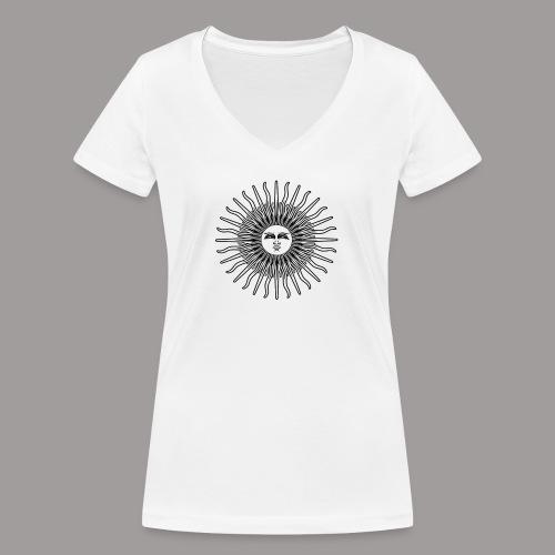 FOLK HORROR REVIVAL Black on white - Women's Organic V-Neck T-Shirt by Stanley & Stella