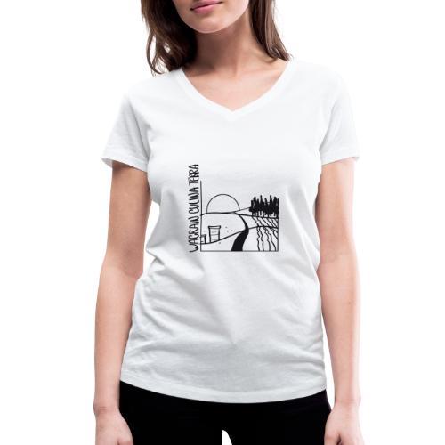 wacrain logo 20cm - Frauen Bio-T-Shirt mit V-Ausschnitt von Stanley & Stella