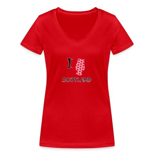 I Love Scotland - Glencairn - Women's Organic V-Neck T-Shirt by Stanley & Stella