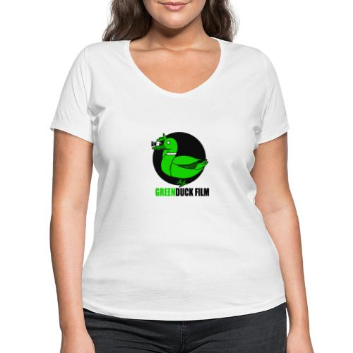Greenduck Film Logo w. black letters - Økologisk Stanley & Stella T-shirt med V-udskæring til damer
