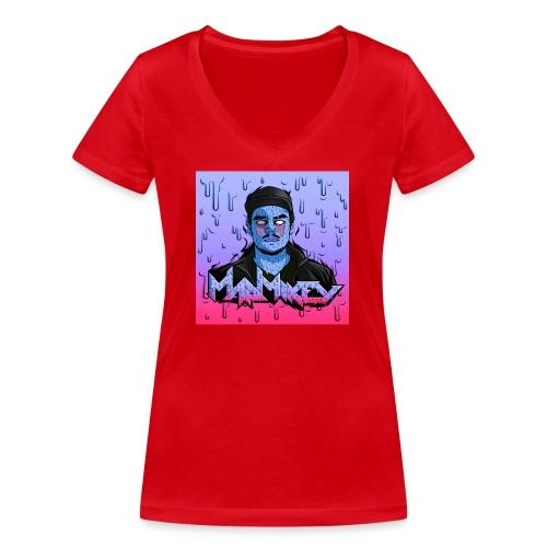 MadMikey Grime Art Blue Bastard - Vrouwen bio T-shirt met V-hals van Stanley & Stella