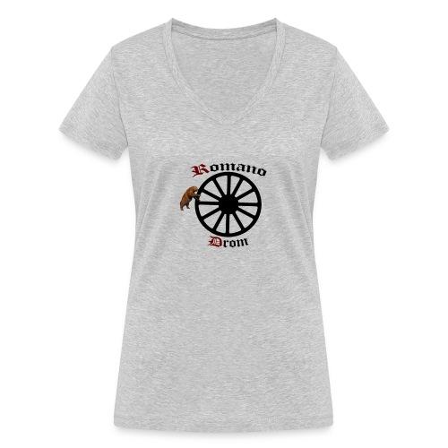 626878 2406580 lennyromanodromutanbakgrundsvartbjo - Ekologisk T-shirt med V-ringning dam från Stanley & Stella