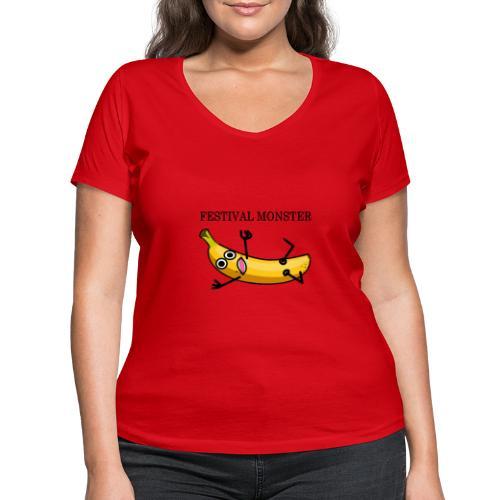 Festival Banane - Frauen Bio-T-Shirt mit V-Ausschnitt von Stanley & Stella