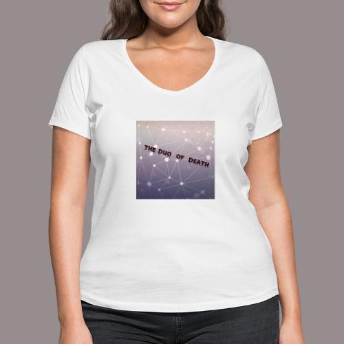The duo of death logo - Vrouwen bio T-shirt met V-hals van Stanley & Stella
