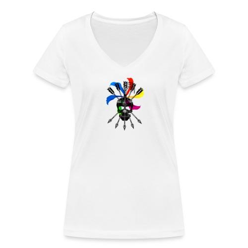 Blaky corporation - Camiseta ecológica mujer con cuello de pico de Stanley & Stella
