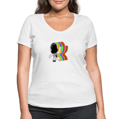 Spaceman - Frauen Bio-T-Shirt mit V-Ausschnitt von Stanley & Stella