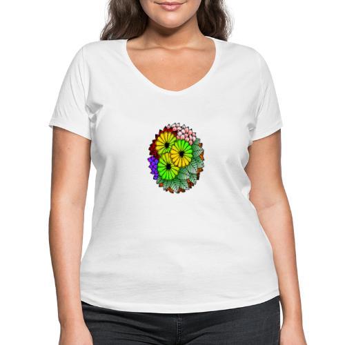 Mandala Blumen Design - Frauen Bio-T-Shirt mit V-Ausschnitt von Stanley & Stella