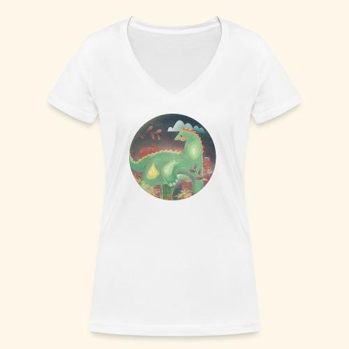 Dinosaur in the landscape - T-shirt ecologica da donna con scollo a V di Stanley & Stella