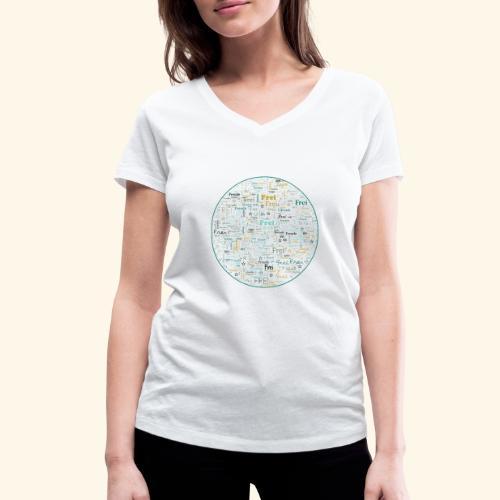 Ich bin - Frauen Bio-T-Shirt mit V-Ausschnitt von Stanley & Stella