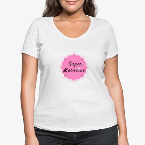 Elue super Marraine pour la vie - T-shirt bio col V Stanley & Stella Femme