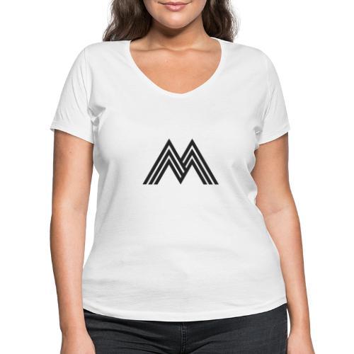 Merchandise With Deejay Michiel logo - Vrouwen bio T-shirt met V-hals van Stanley & Stella