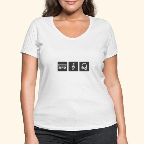 Music is Passion - Frauen Bio-T-Shirt mit V-Ausschnitt von Stanley & Stella