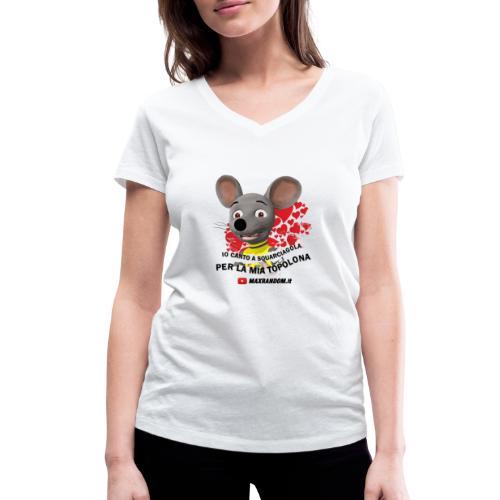Io Canto a Squarciagola - T-shirt ecologica da donna con scollo a V di Stanley & Stella