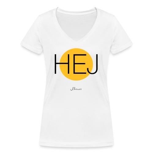 HELLO circle - Women's Organic V-Neck T-Shirt by Stanley & Stella