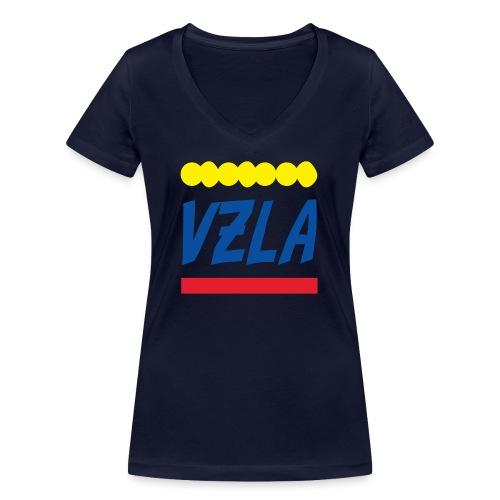 vzla 01 - Camiseta ecológica mujer con cuello de pico de Stanley & Stella