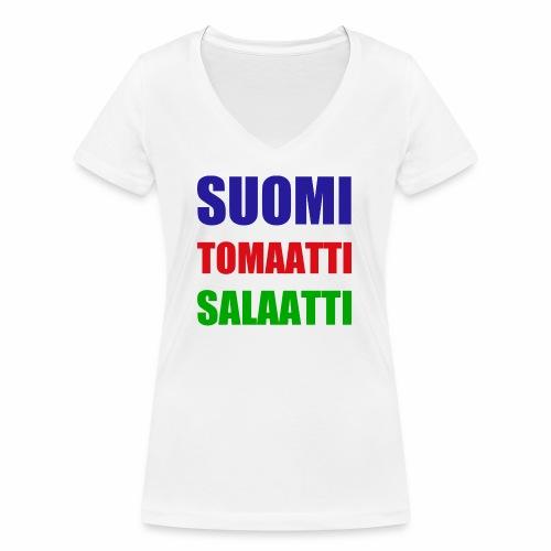 SUOMI SALAATTI tomater - Økologisk T-skjorte med V-hals for kvinner fra Stanley & Stella