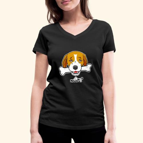 Nice Dogs Semolino - T-shirt ecologica da donna con scollo a V di Stanley & Stella