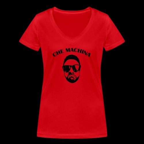 CHE MACHINA - T-shirt ecologica da donna con scollo a V di Stanley & Stella