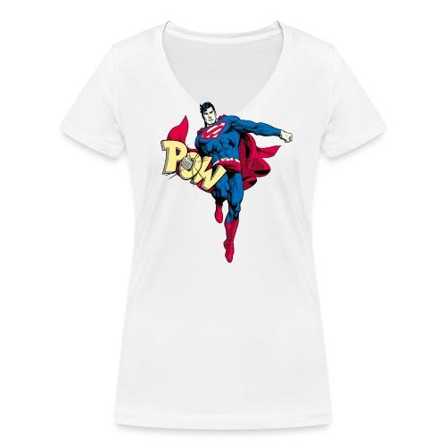 Pow - Frauen Bio-T-Shirt mit V-Ausschnitt von Stanley & Stella