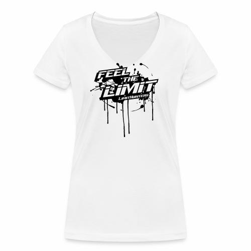 Feel the Limit - Splash edition B&W - Frauen Bio-T-Shirt mit V-Ausschnitt von Stanley & Stella