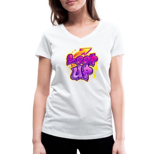 LOOP UP - Frauen Bio-T-Shirt mit V-Ausschnitt von Stanley & Stella