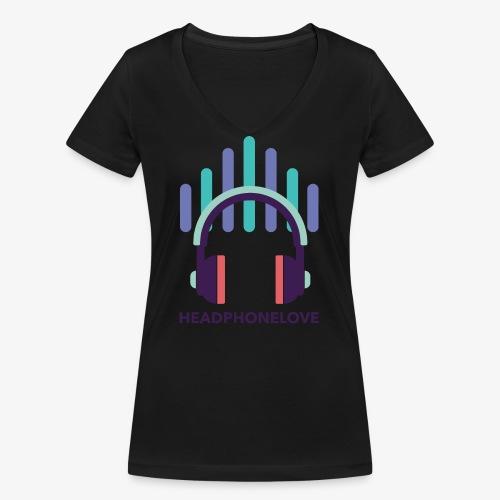 headphonelove - Frauen Bio-T-Shirt mit V-Ausschnitt von Stanley & Stella