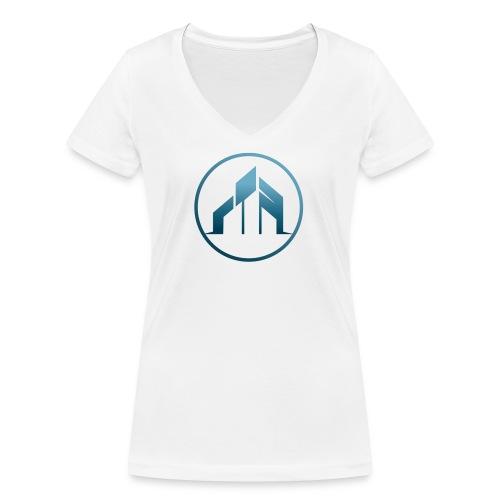 praise community church - Stanley & Stellan naisten v-aukkoinen luomu-T-paita