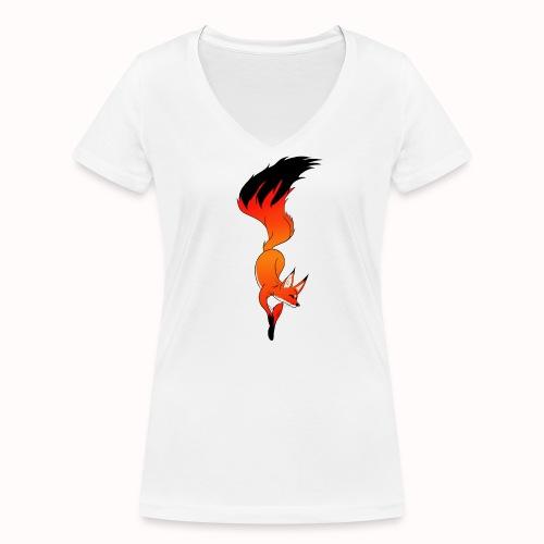 Fox - Women's Organic V-Neck T-Shirt by Stanley & Stella