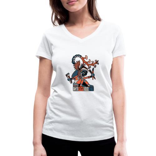 MAESTRO MEZCALERO PREHISPÁNICO - Camiseta ecológica mujer con cuello de pico de Stanley & Stella