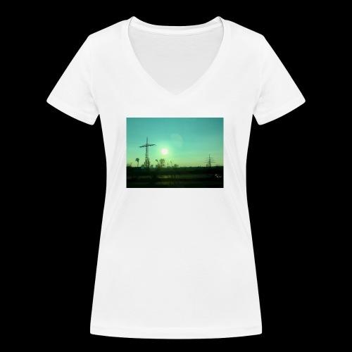 pollution - Vrouwen bio T-shirt met V-hals van Stanley & Stella