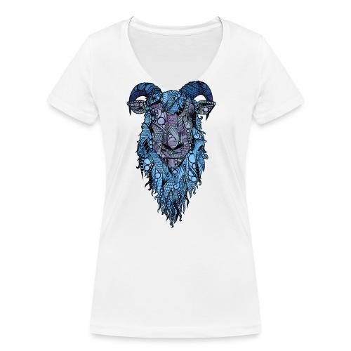 Sau - Økologisk T-skjorte med V-hals for kvinner fra Stanley & Stella