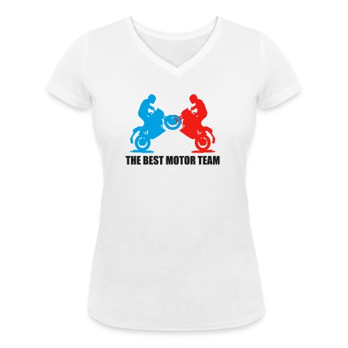 Najlepszy zespół motocyklistów - Ekologiczna koszulka damska z dekoltem w serek Stanley & Stella