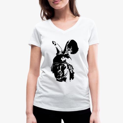 Kopf des Hermannsdenkmals - einfarbig, schlicht - Frauen Bio-T-Shirt mit V-Ausschnitt von Stanley & Stella