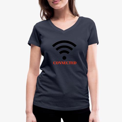 CONNECTED - Ekologisk T-shirt med V-ringning dam från Stanley & Stella