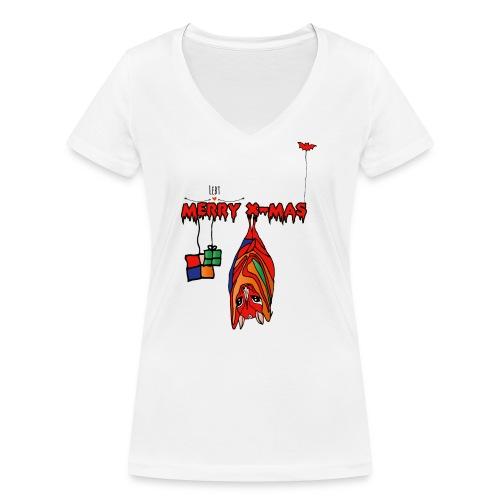 Merry X-MAS - Frauen Bio-T-Shirt mit V-Ausschnitt von Stanley & Stella
