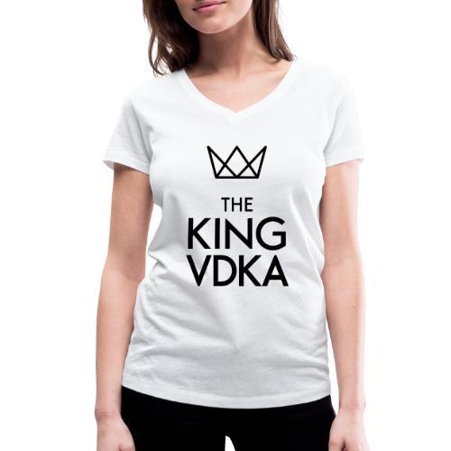 The King VDKA Logo schwarz RGB - Frauen Bio-T-Shirt mit V-Ausschnitt von Stanley & Stella