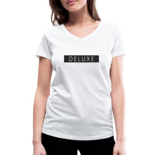 DELUXE - Camiseta ecológica mujer con cuello de pico de Stanley & Stella
