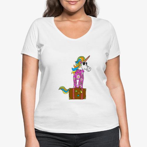 Unicorn trip - T-shirt bio col V Stanley & Stella Femme