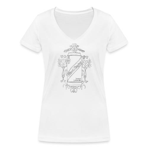 Red Stripe - Women's Organic V-Neck T-Shirt by Stanley & Stella