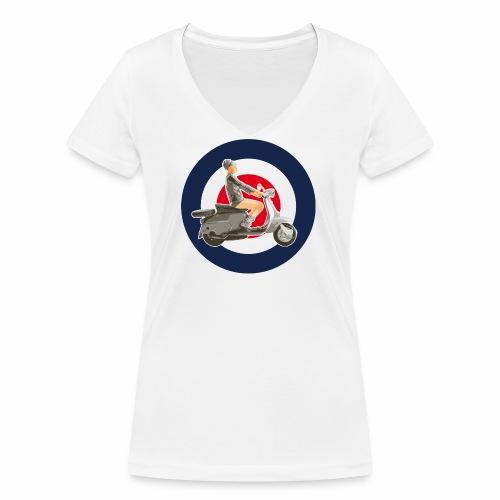 Scooter girl - T-shirt bio col V Stanley & Stella Femme