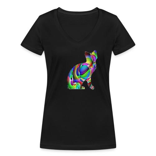 chat joueur - T-shirt bio col V Stanley & Stella Femme
