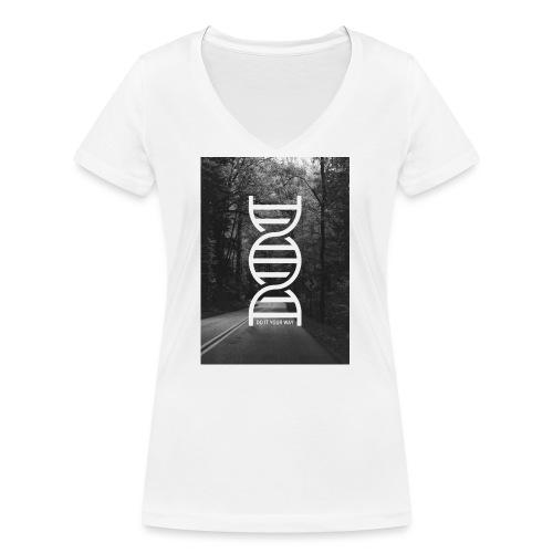 Fotoprint DNA Straße - Frauen Bio-T-Shirt mit V-Ausschnitt von Stanley & Stella